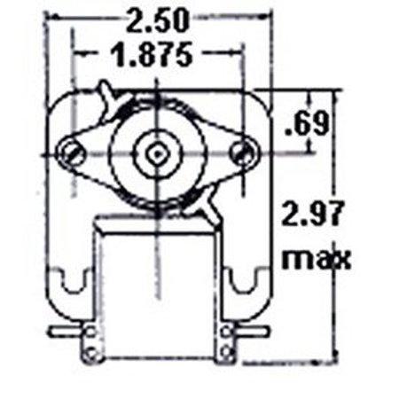 Fasco C-Frame Vent Fan Motor .73 amps 3000 RPM 120V # K612