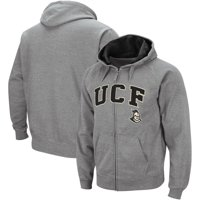 UCF Knights Colosseum Wordmark Arch & Team Logo Full-Zip Hoodie - Heathered Gray