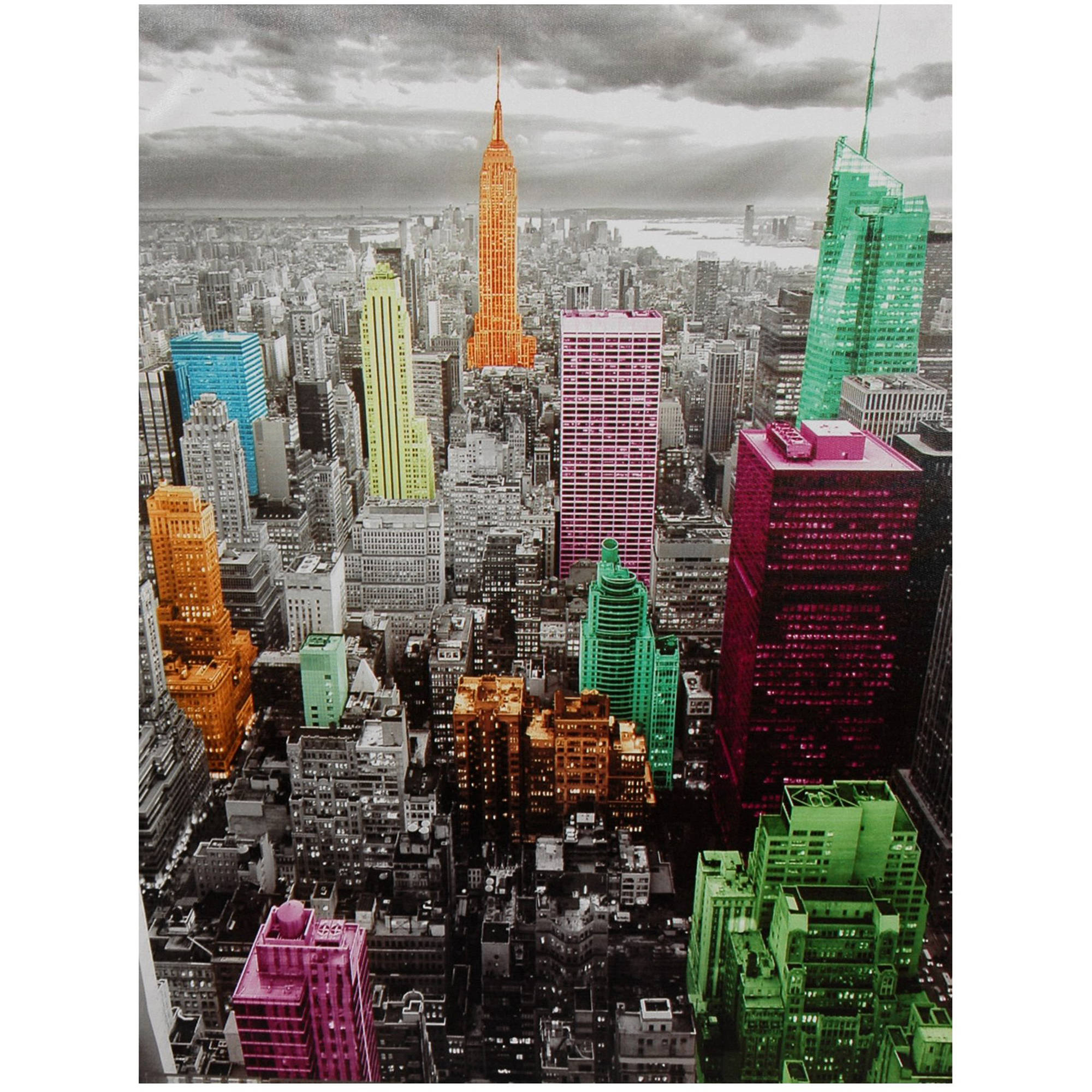 High-Lights of New York Skyline Canvas Wall Artwork by Oriental Furniture