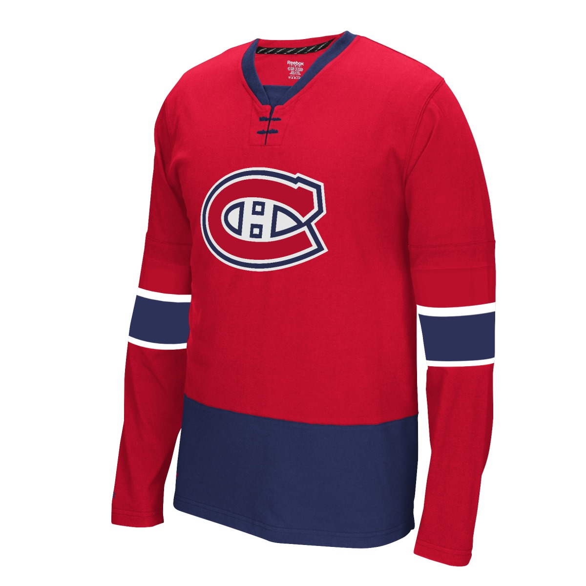 """Montreal Canadiens Reebok NHL """"Face Off"""" Long Sleeve Jersey Shirt"""