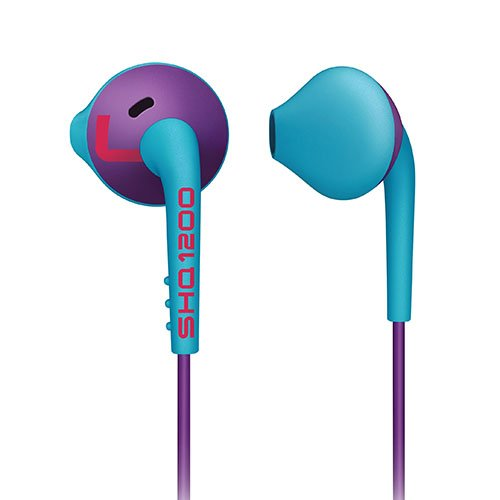 Philips SHQ1200PP/28 ActionFit Sports In-Ear Headphones, Purple