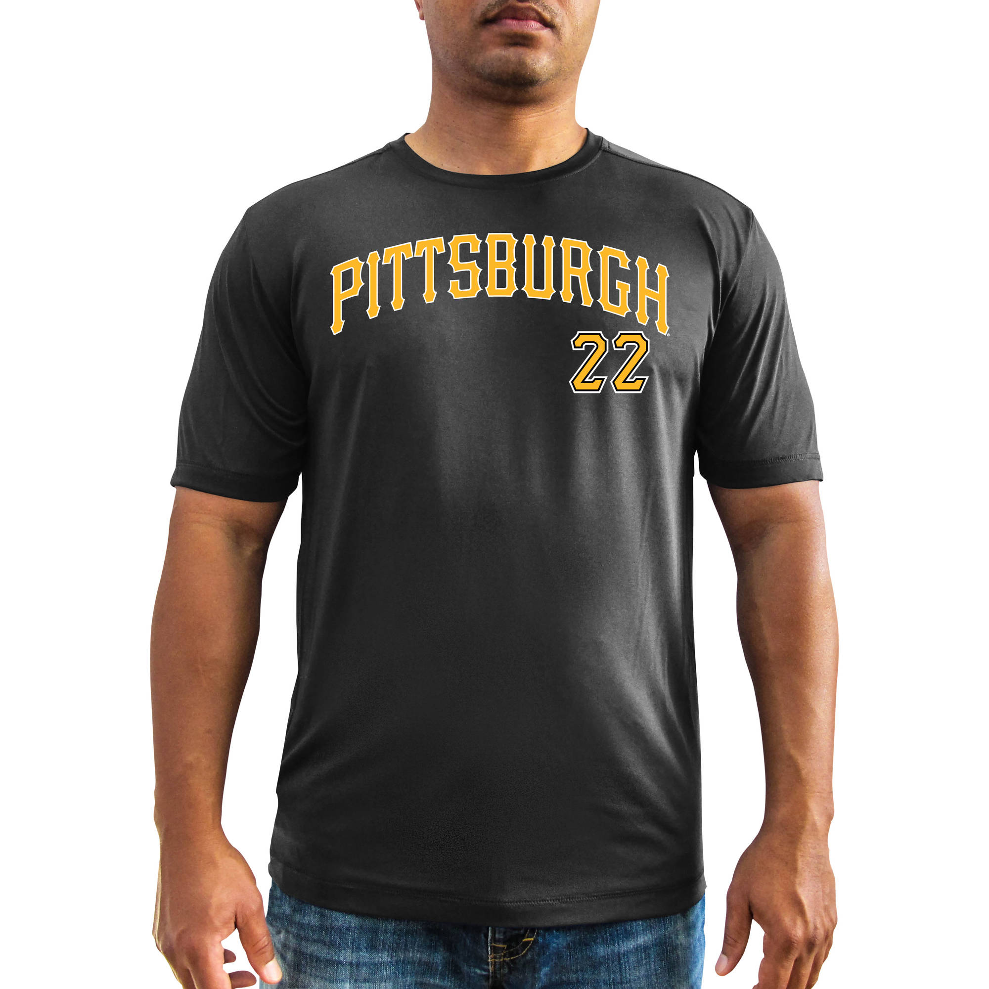 MLB - Mens Pittsburgh Pirates Andrew Mccutchen Short Sleeve Synthetic Player Tee