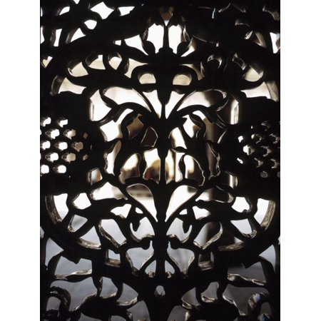 Ornate Detail of a Wrought Iron Gate in India Print Wall Art ()