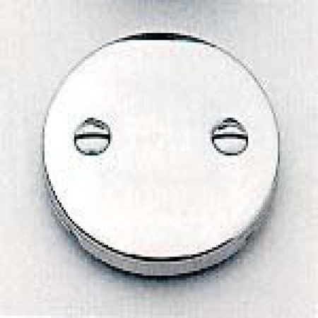 Brasstech Faceplate (Brasstech 266/15S Two-Hole Faceplate For Waste and Overflow, Satin Nickel)