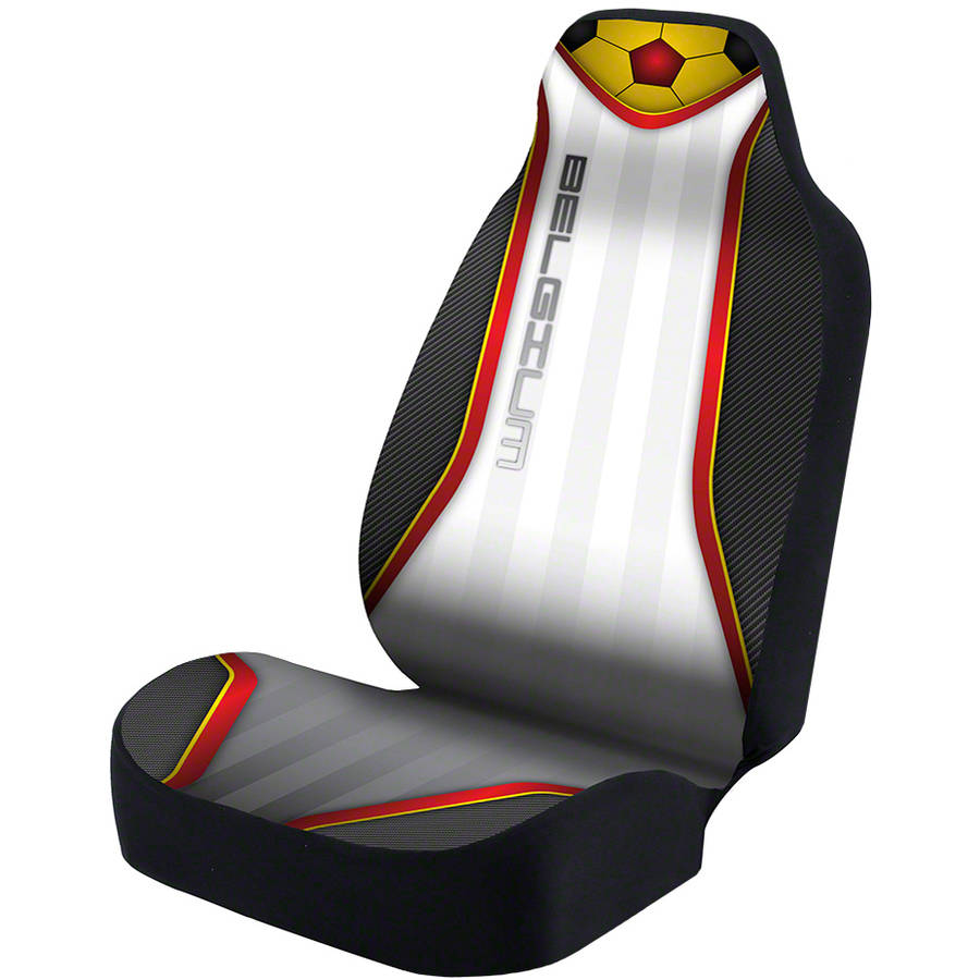 Coverking Universal Seat Cover Designer Ultra Suede, World Cup Belgium