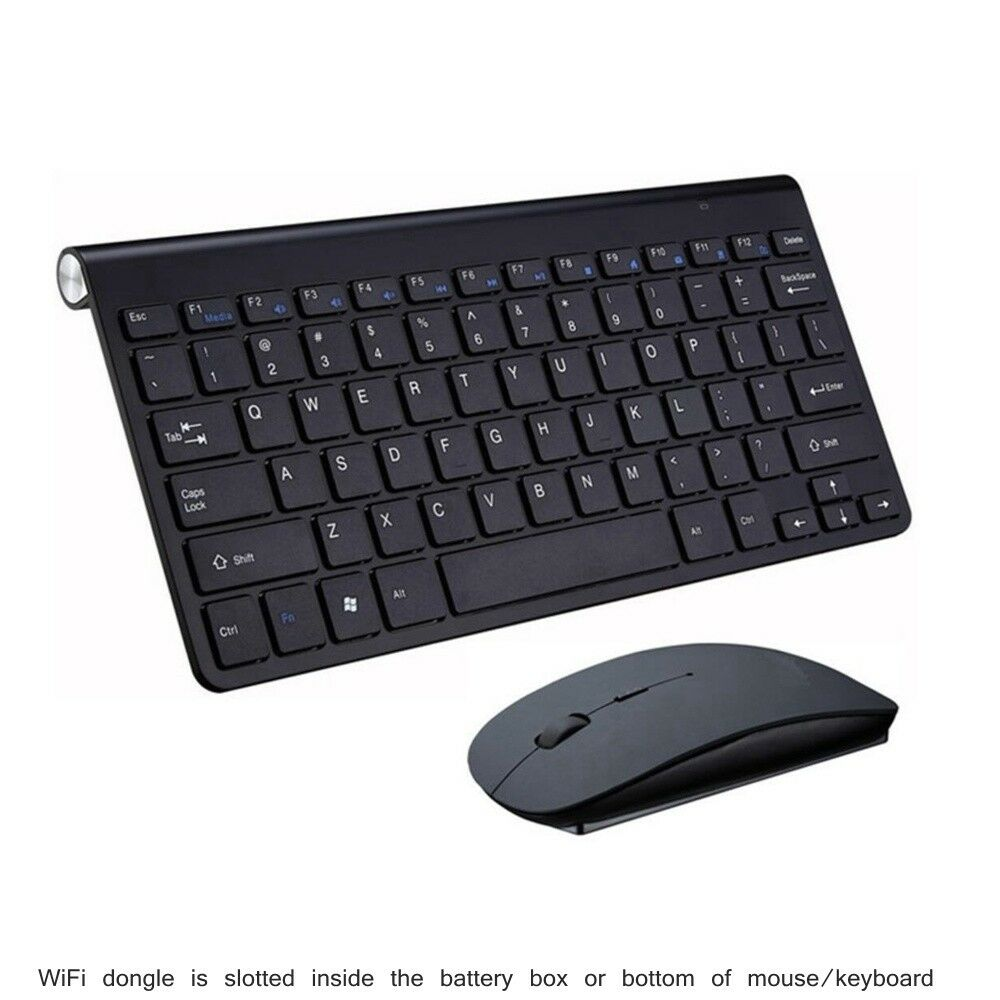 Black Wireless Mini Keyboard /& Mouse Easy Control Browser for Samsung UE55RU7100KX 55 Remote Control for YouTube