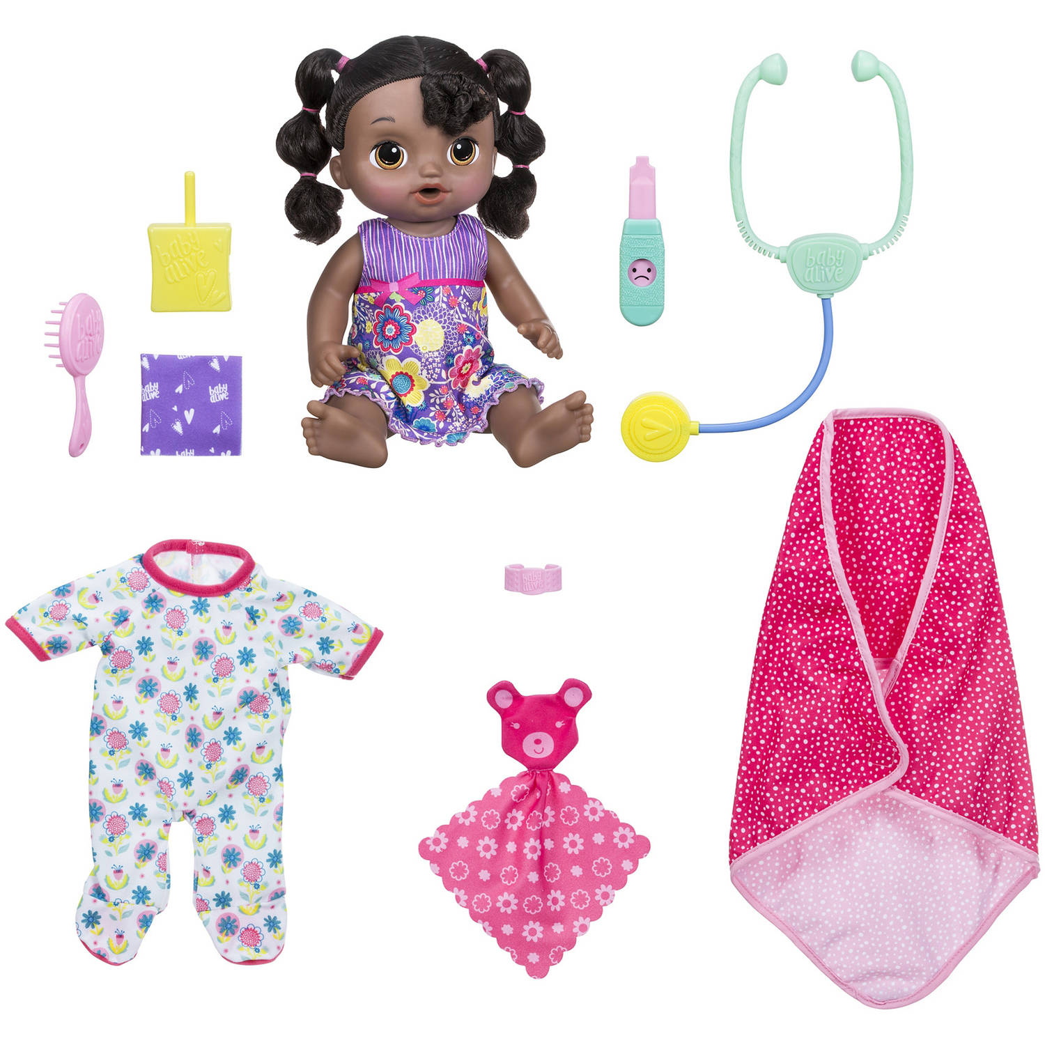 Baby Alive Sweet Tears Baby - Exclusive Bundle Pack – Black Hair