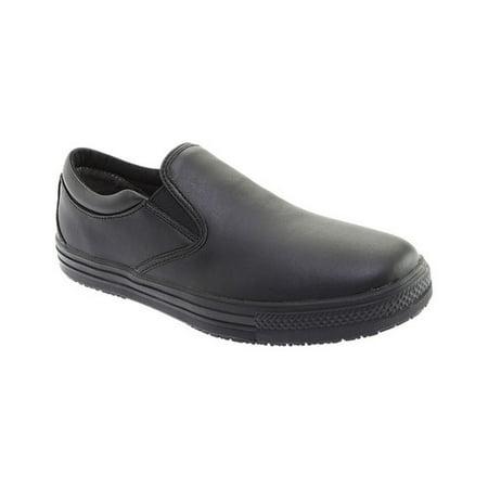 Men's Genuine Grip Footwear Slip-Resistant Retro Slip-on Work Shoes ()