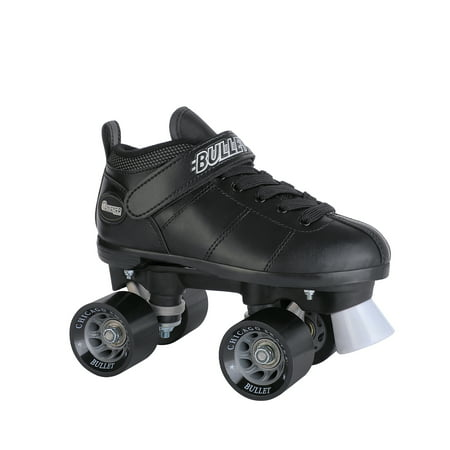 Chicago Mens' Bullet Speed Skates Black Classic Quad Roller Skate, Size