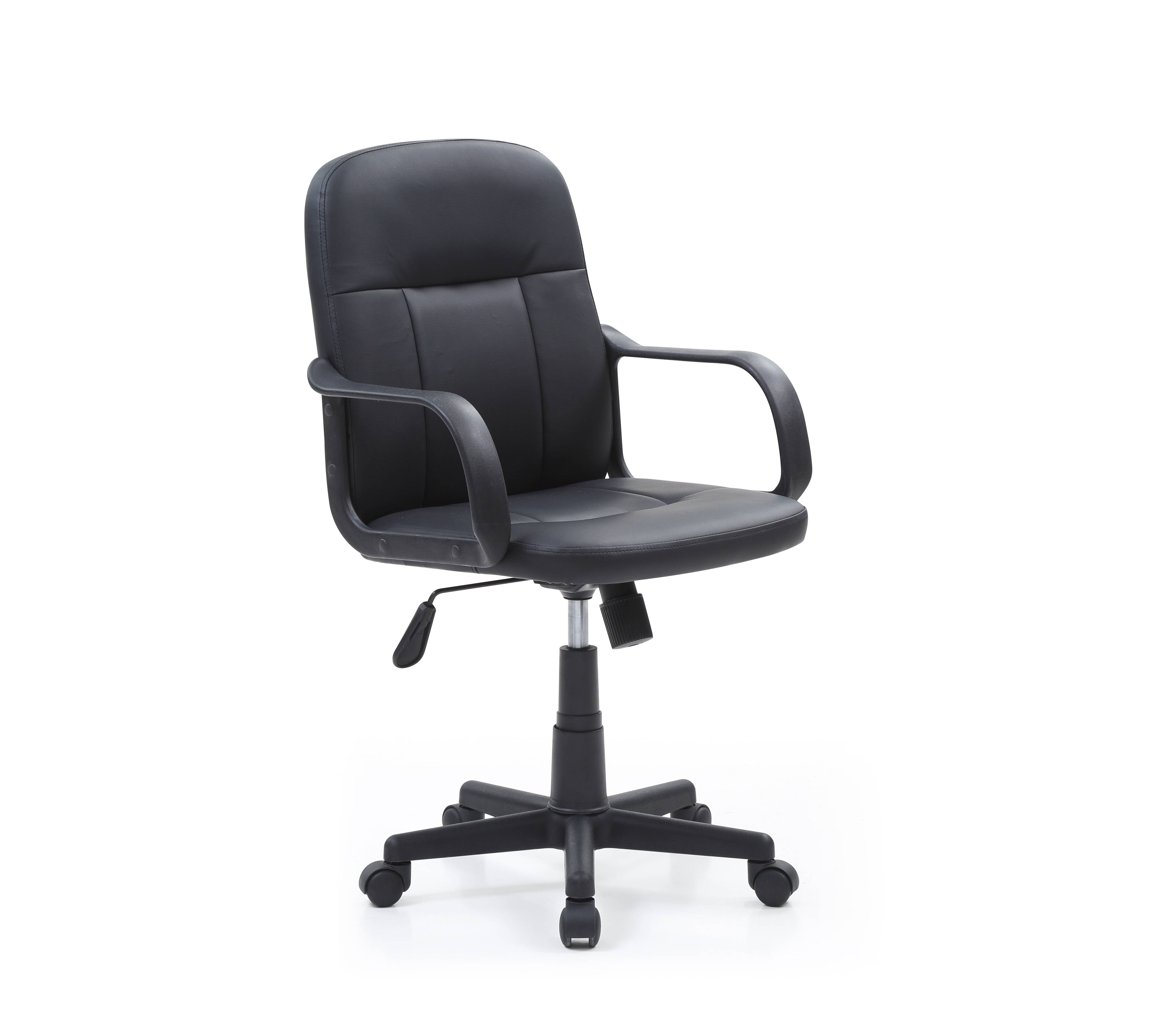 Mid Back, Adjustable Height, Swiveling Office Chair, Black