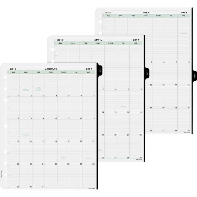 Day-Timer 1-Page-Per-Day Planner Page Refill - Daily - 1 Year