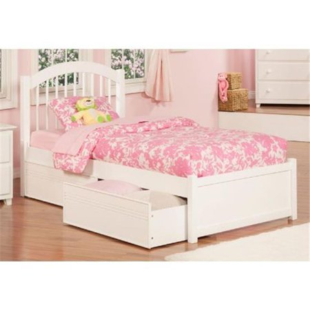 Atlantic Furniture AP9412112 Windsor Twin Size Extra Large Flat Panel Footboard with Urban Bed Drawers, White ()