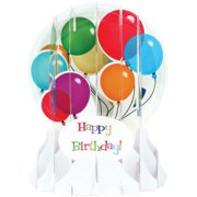 Up With Paper Balloons : 5 Inches Snow Globe Pop Up Birthday Card