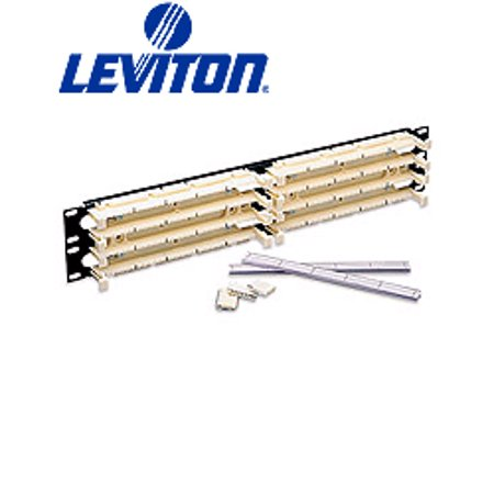 Leviton 41DBR-2F5 GigaMax 5e 110-Style Rack Mount Wiring Block Kit 200-Pair
