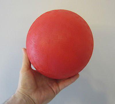 "10 NEW KICKBALL DODGE BALLS SOCCER RED 9/"" PVC PLAYGROUND RECREATION PARTY BALL"