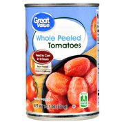 (4 Pack) Great Value Whole Peeled Tomatoes In Tomato Juice, 14.5 Oz