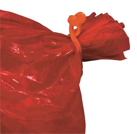 Autoclavable Safe Bag Clips, Orange ,Bel-Art - Scienceware, 13190-0100