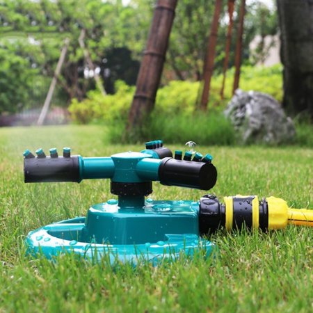 Lawn Garden Irrigation Sprinkler Adjustable Trigeminal Nozzle 360 Degree Rotating Sprinkler for Watering Lawn Plants Flowers - image 1 of 5