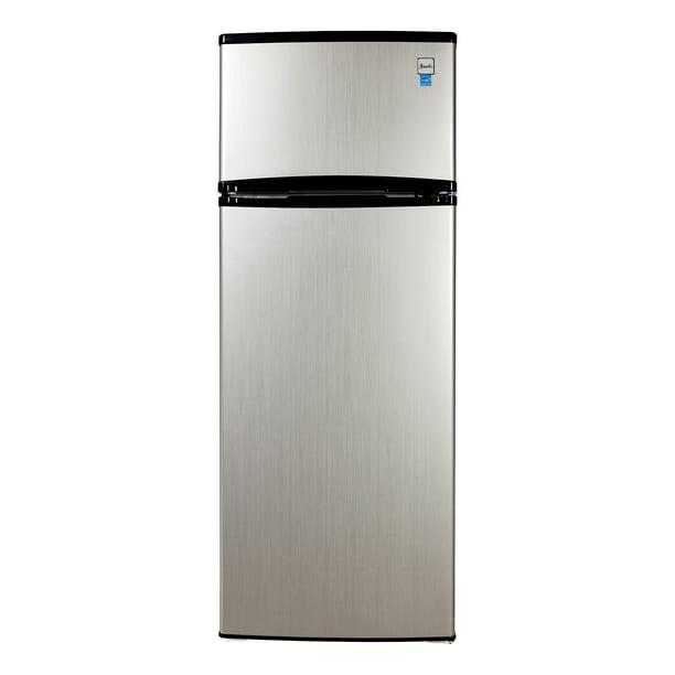 Avanti 7 4 Cu Ft Top Freezer Apartment Refrigerator In Black Platinum Walmart Com Walmart Com