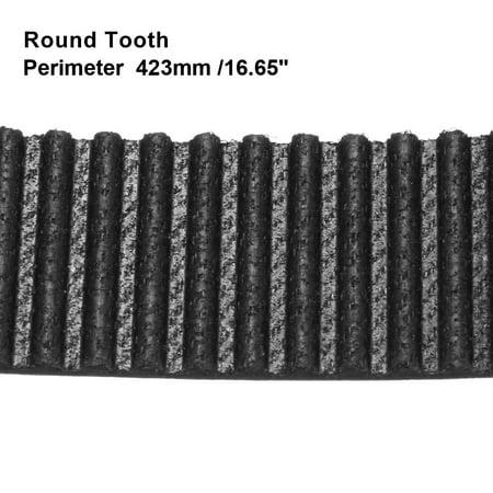 HTD3M423 Rubber Timing Belt Synchronous Closed Loop Timing Belt 10mm Width - image 2 de 2