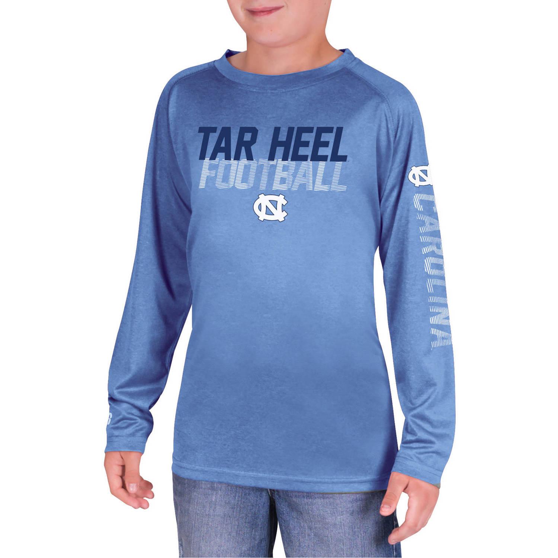 NCAA UNC Tar Heels Boys Long Sleeve Impact T-Shirt