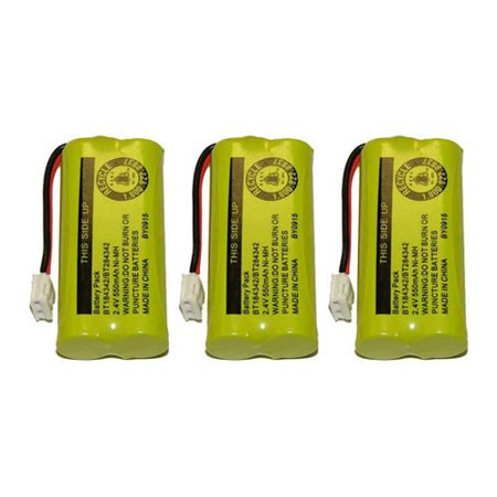 Replacement VTech BT28433 / DS6121 NiMH Cordless Phone Battery (3 Pack) ()