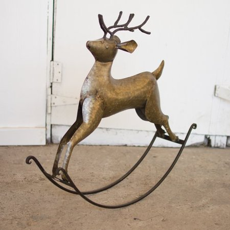 The Holiday Aisle Rustic Rocking Deer Figurine