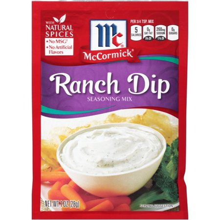 Mccormick Seasoning Mix  Ranch Dip  1 Oz
