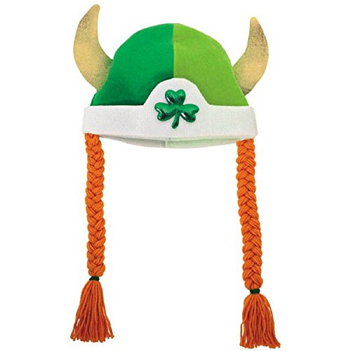 Amscan Cool Viking Hat with Braids St. Patrick's Day Costume Party Head Wear (1 Piece)