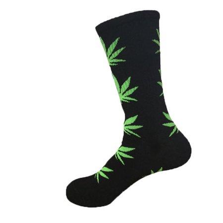 Paradise Kiss 5 Colors Plantlife Marijuana Weed Leaf Cotton High Socks Men/women Ankle