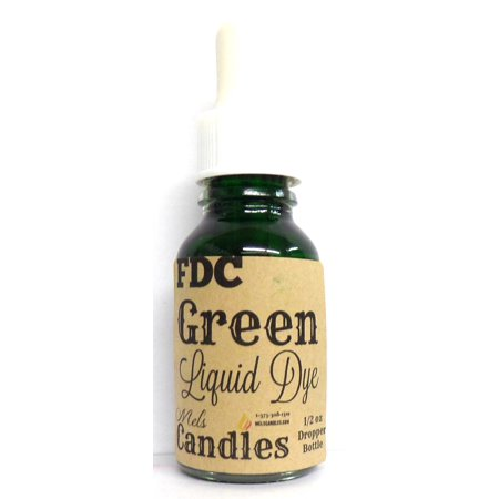 Half Ounce of Green FDC Dye- Dropper Bottle with Childproof - Fdc Deer