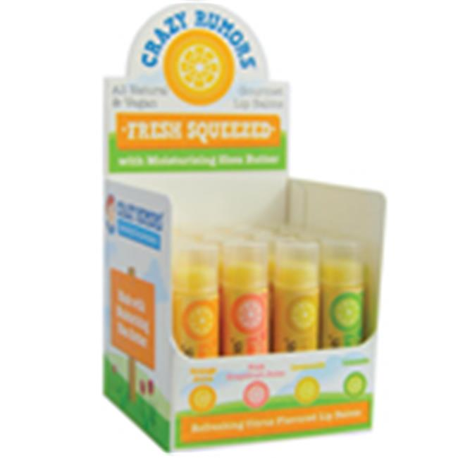 Crazy Rumors Frontier Natural Products 225022 Lip Balm - Fresh Squeezed Display
