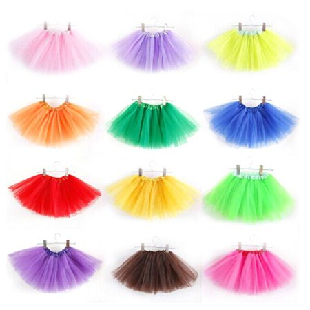 3 Layer Girl Kid Tutu Party Ballet Dance Wear Skirt Pettiskirt Costume](Christmas Pettiskirt)