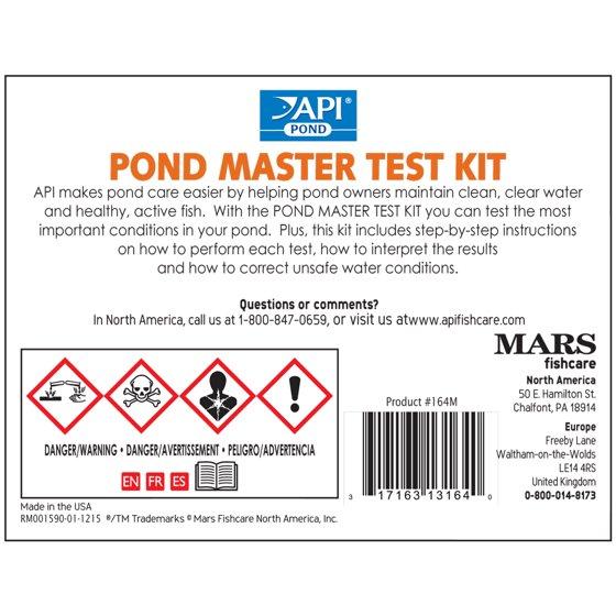 API Pond Master Test Kit, Pond Water Test Kit, 500-Test