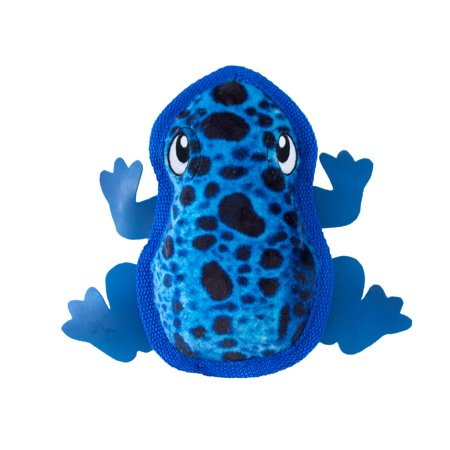 Squeak Plush (Tough Skinz Frog Plush Squeaky Toy for Dogs )