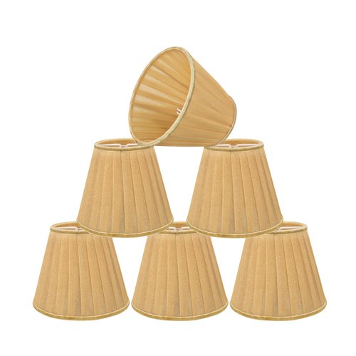 Alcott Hill Modern Pleated 5'' Fabric Empire Lamp Shade (Set of 6)