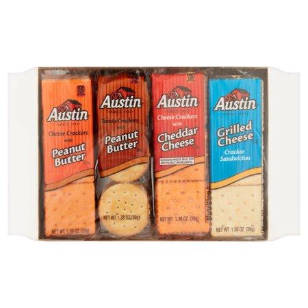 (2 Pack) Austin Variety Pack Snack Crackers 8 - 1.38 oz. Packs