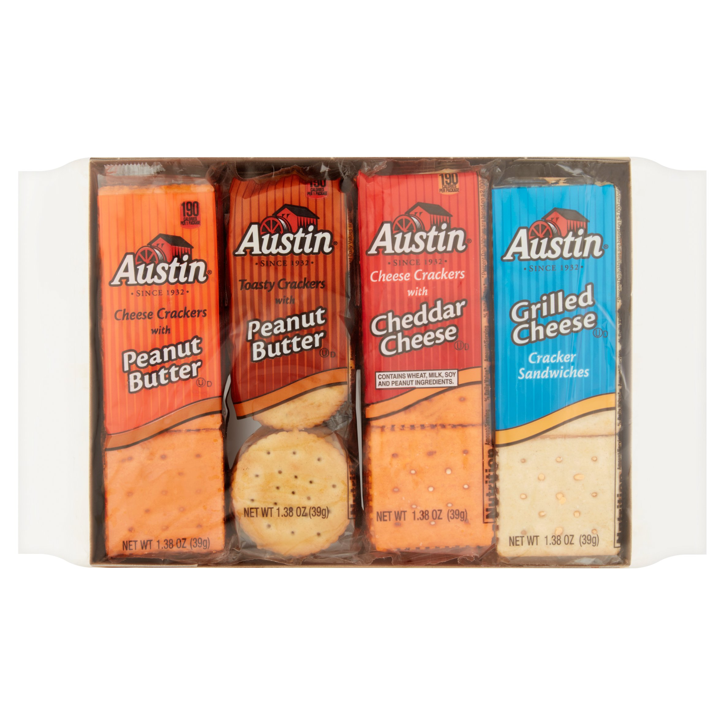 (2 Pack) Austin Variety Pack Snack Crackers 8 - 1.38 oz.