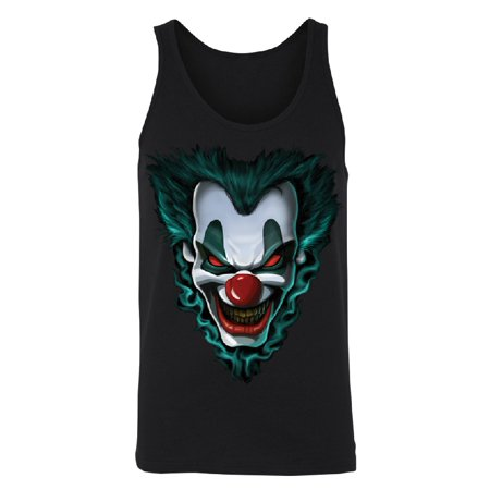 Halloween In Salem 2017 (Psycho Clown Joker Face Men's Tank Top Funny Halloween 2017 Costume Shirts Black)