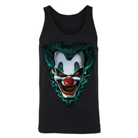 Psycho Clown Joker Face Men's Tank Top Funny Halloween 2017 Costume Shirts Black Small