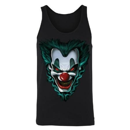 Psycho Clown Joker Face Men's Tank Top Funny Halloween 2017 Costume Shirts Black Small - Halloween Bts 2017