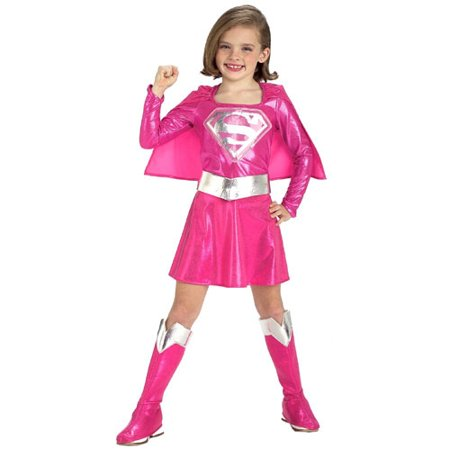 Pink Supergirl Child Halloween Costume - Supergirl Pink Toddler Halloween Costume