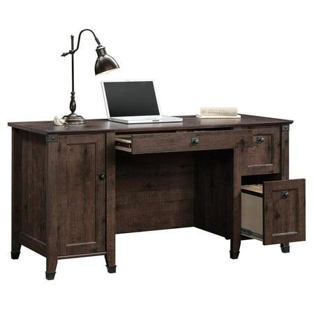 Sauder Carson Forge Computer Desk in Coffee Oak - image 9 de 18