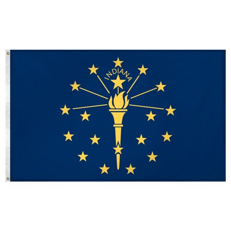 Indiana Flag Pictures (Indiana Flag 3ft x 5ft Super Knit polyester )