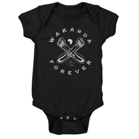 CafePress - Black Panther Wakanda Forever - Cute Infant Bodysuit Baby Romper (Baby Boy Panthers)