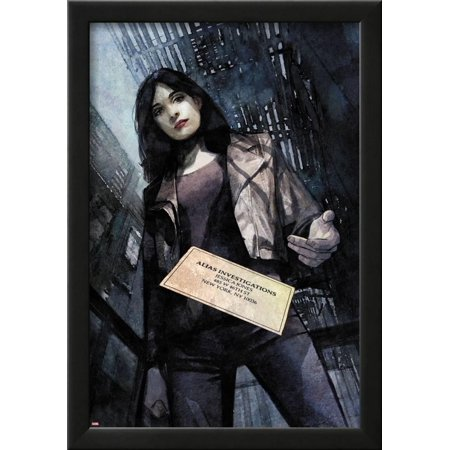 Jessica Jones  1 Variant Cover Art Featuring Jessica Jones Framed Poster Wall Art By Alex Maleev