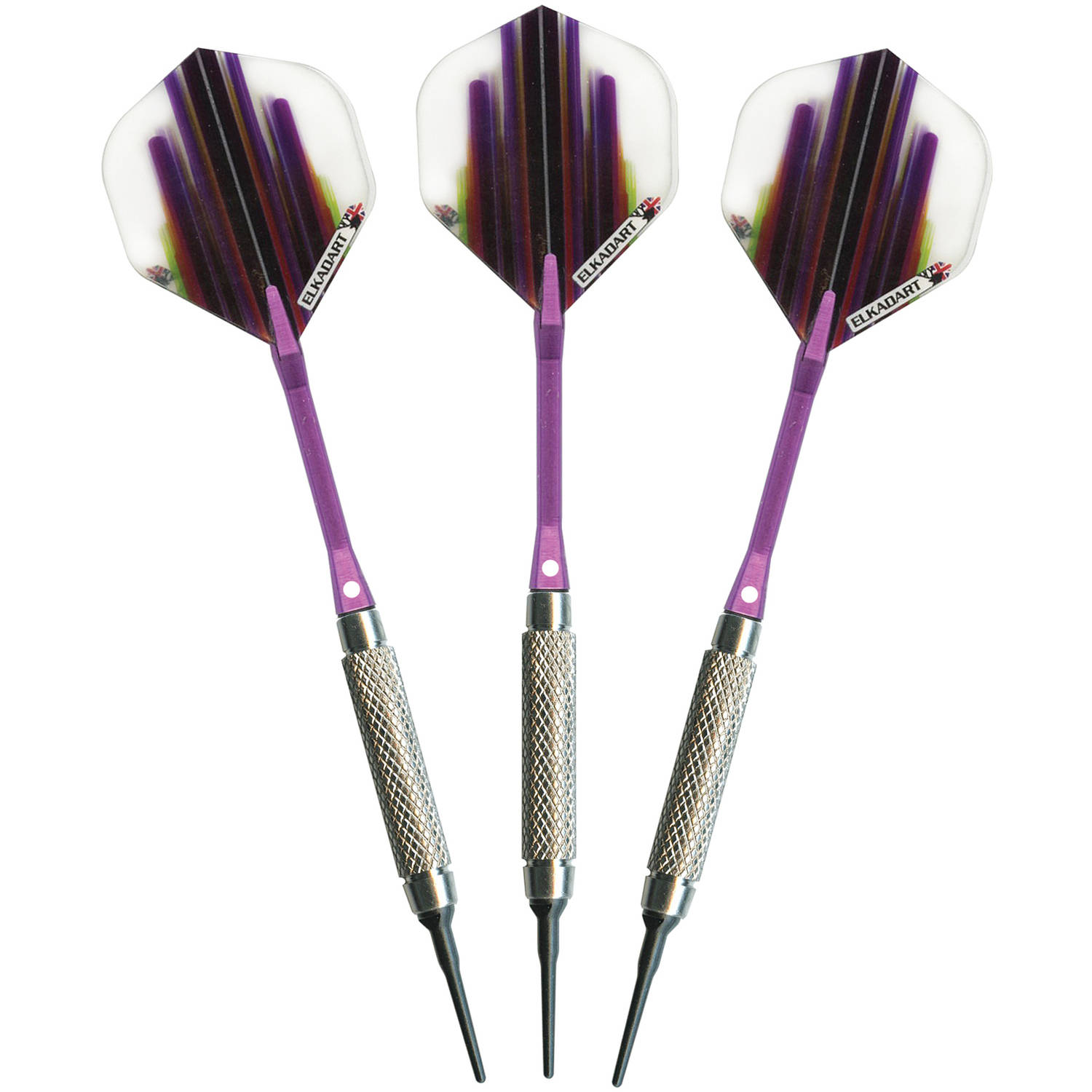 Elkadart Turbo Soft Tip Darts, 1 Knurled Ring 20g