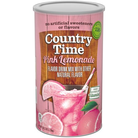 (2 Pack) COUNTRY TIME Lemonade Sugar Sweetened Powdered Soft Drink 82.5 oz. Cannister