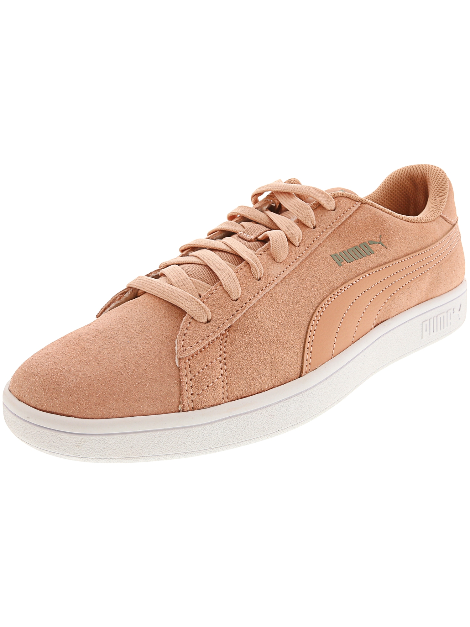 Puma Men's Smash V2 Muted Clay / Ankle-High Suede Fashion Sneaker - 11M
