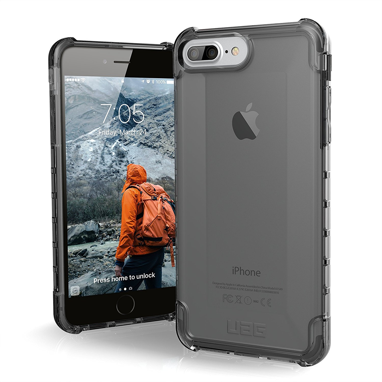 new styles 70774 8655a UAG iPhone 8 Plus / iPhone 7 Plus [5.5-inch screen] Plyo [ASH] Case